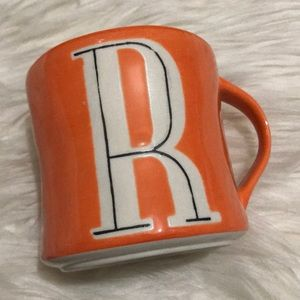 "☕️ Anthropologie Hand Painted ""R"" Initial Mug"